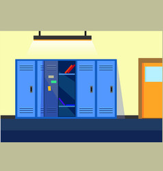 School locker room flat background ve vector