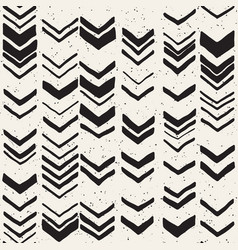 seamless hand drawn style chevron pattern in black vector image