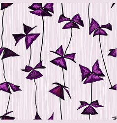 seamless pattern with oxalis triangularis leaves vector image