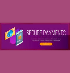 secure payments banner vector image