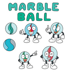 Set of marble ball vector