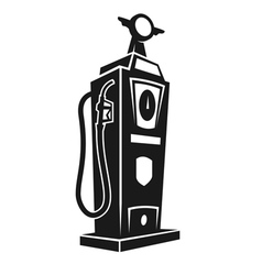silhouette retro gas pump vector image