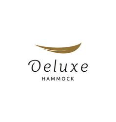simple elegant golden hammock luxury gold logo vector image