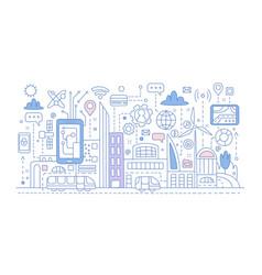 Smart city vector
