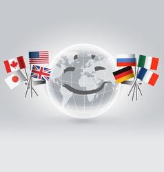 Smiling world globe vector image