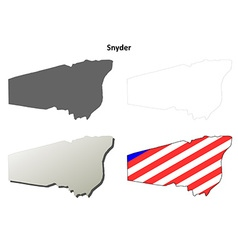 Snyder map icon set vector