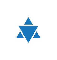 star david template icon vector image