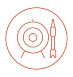 Target board and arrow line icon vector image