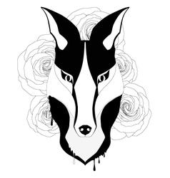 tattoo style fox vector image