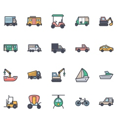 Transport Icons 3 vector