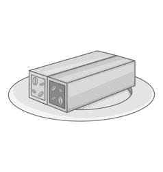 Turkish sweets icon gray monochrome style vector