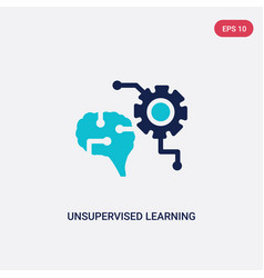 Two color unsupervised learning icon from vector