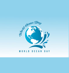 Vetcor art world ocean day banner vector