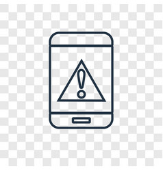 warning concept linear icon isolated on vector image