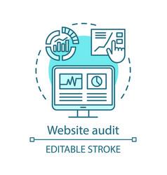 Website audit concept icon vector