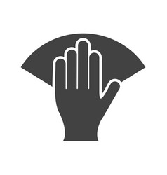 Wipe with hand vector