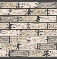 Wood whitened floor tiles pattern seamless vector