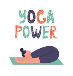 yoga girl in asana vector image