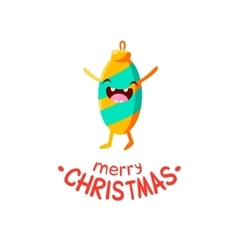 Christmas toy Cheerful card vector image