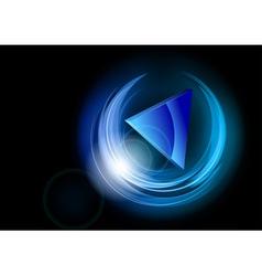 neon dark round blue vector image