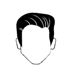 portrair male business character vector image vector image