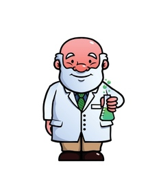 Scientist holding a flask vector image vector image