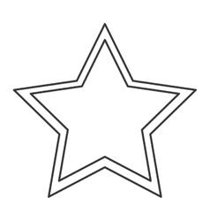 single star icon vector image