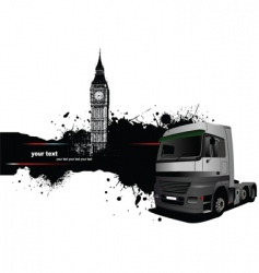 truck and london vector image vector image
