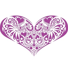 Victorian floral heart vector image vector image