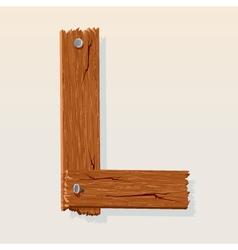 wooden letter l vector image vector image