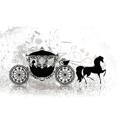 carriage horse grunge vector image vector image