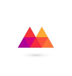 Letter m mosaic logo icon design template elements vector