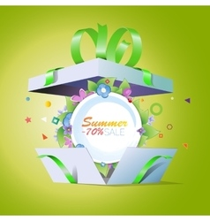 Special offer Summer discounts Seasonal sale vector image vector image