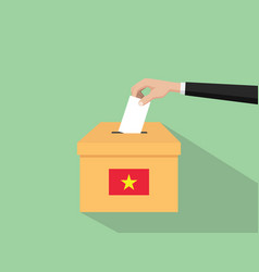 vietnam vote election concept with vector image vector image