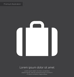 Case premium icon white on dark background vector image