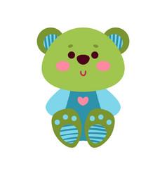 cute cartoon teddy bear animal toy colorful vector image