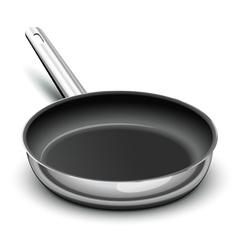 frying pan for cooking vector image