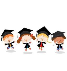 Graduated Kids vector image vector image