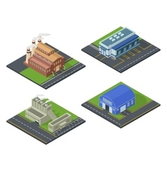 Isometric building set vector image