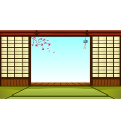 japanese room vector image