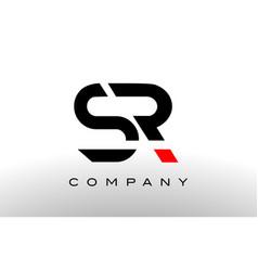 s r logo sr letter design vector image vector image