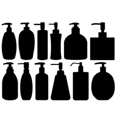 Set of different liquid soaps vector image vector image