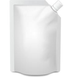 White blank doy-pack doypack foil food or drink vector image vector image