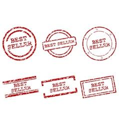 Best seller stamps vector image vector image