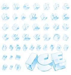 ice alphabet vector image