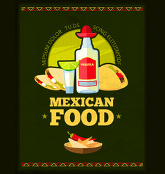 mexican restaurant menu design vector image vector image