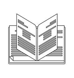 Open book icon image vector