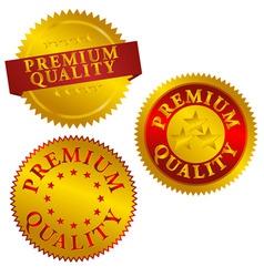 premium quality seals vector image vector image