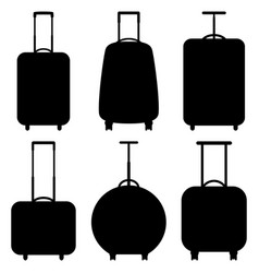 set of suitcase icons vector image vector image