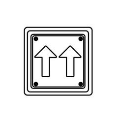 Silhouette square shape frame same direction arrow vector